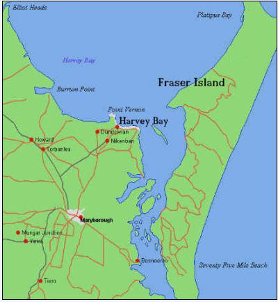 Fraser Island Karte